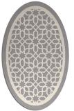 rug #1328700 | oval beige borders rug