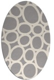 rug #1328920 | oval white circles rug