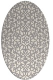 rug #1328980 | oval white geometry rug