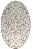 rug #1329000   oval beige damask rug