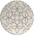 rug #1329008 | round beige damask rug