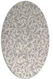 rug #1329020 | oval beige damask rug