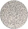 rug #1329028 | round beige damask rug