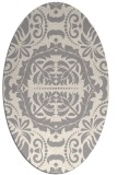 rug #1329040 | oval beige damask rug