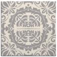 rug #1329056 | square white damask rug