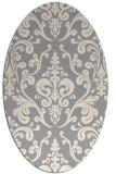 rug #1329060 | oval beige traditional rug