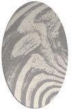 rug #1329120 | oval white stripes rug