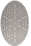 rug #1329180   oval white traditional rug