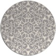 rug #1329188 | round beige damask rug