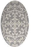 rug #1329220 | oval beige damask rug