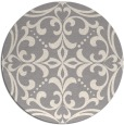 rug #1329228 | round beige damask rug