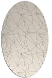 rug #1329240 | oval white abstract rug