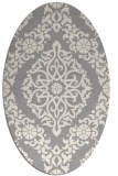 rug #1329260 | oval white traditional rug