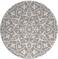 rug #1329348 | round beige damask rug