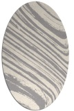 rug #1329420 | oval white natural rug