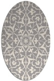 rug #1329440 | oval white traditional rug