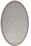 rug #1329480 | oval white geometry rug
