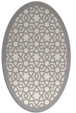 rug #1329520 | oval white geometry rug