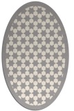 rug #1329540 | oval white borders rug