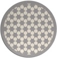 rug #1329548 | round white borders rug