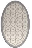 rug #1329580   oval beige borders rug