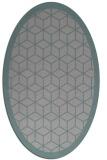rug #1329583 | oval geometry rug