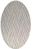 rug #1329620 | oval white stripes rug