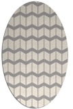 rug #1329640 | oval white gradient rug