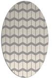 rug #1329640 | oval beige natural rug