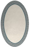 rug #1329760 | oval plain beige rug