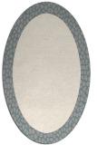 rug #1329780 | oval white animal rug