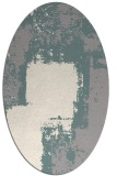 rug #1329840 | oval white graphic rug