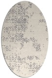 rug #1329960 | oval white faded rug