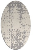 rug #1329980 | oval white faded rug