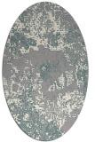 rug #1330020 | oval beige graphic rug