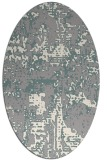 rug #1330040 | oval white faded rug