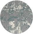 rug #1330048 | round white graphic rug