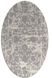 rug #1330060 | oval white faded rug