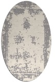 rug #1330080 | oval white graphic rug