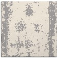 rug #1330096 | square white graphic rug