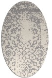 rug #1330120 | oval white faded rug