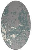rug #1330140 | oval white damask rug