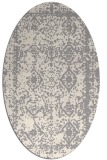 rug #1330160 | oval white damask rug