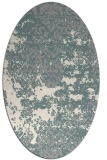 rug #1330180 | oval white traditional rug