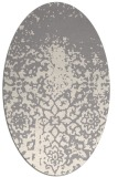 rug #1330200 | oval white faded rug