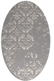 rug #1330220 | oval white faded rug