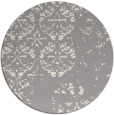 rug #1330228 | round white faded rug