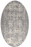 rug #1330260 | oval white faded rug