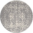 rug #1330268 | round white faded rug