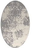 rug #1330280 | oval white traditional rug